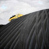 Moving Coal at Ferrybridge by Janet Buckle