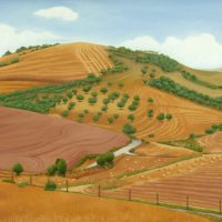 Landscape Sicily by Janet Buckle