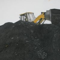 Moving coal at Hay Royds by Janet buckle