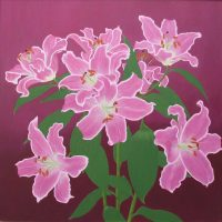 Pink lilies by Janet Buckle
