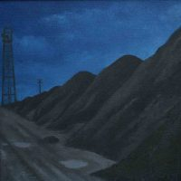 Coal Road with Blue Sky by Janet Buckle
