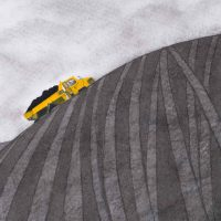 Carrying Coal at Ferrybridge by Janet Buckle 7399